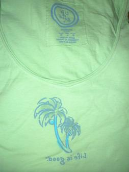 "NWT!!  LIFE IS GOOD WOMEN S/S LIGHTWEIGHT CRUSHER V-TEE.. ""P"