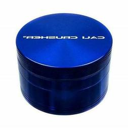 "Cali Crusher OG Hard Top 4 Piece BLUE Herb Grinder 2.5"" AUTH"