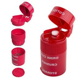 Pill Tablet Cutter Splitter Grinder Crusher Pills Storage Ta