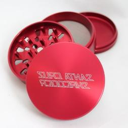 Large Santa Cruz Shredder Red 4 Piece Grinder with a Cali Cr
