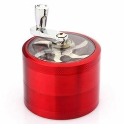 Red 4-Layers Herb Grinder Spice Tobacco/Weed Smoke Metal Cru