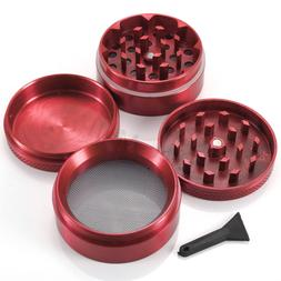 Red 4 Piece 50MM Herb Grinder Crusher Hand Muller Spice Herb