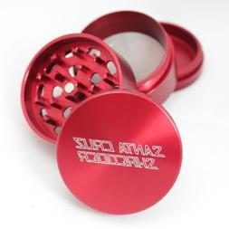 Medium Santa Cruz Shredder Red 4 Piece Grinder with a Cali C