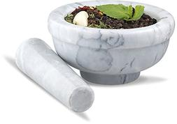 Sagler mortar and pestle set Marble Grey 3.75 inches diamete