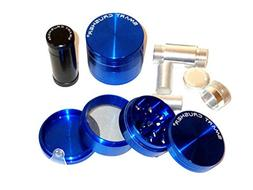 SMART CRUSHER Blue 4 Part Titanium Tobacco Pollen Herb Grind