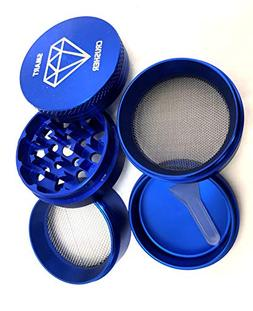 SMART CRUSHER 5 Piece Blue Tobacco Spice Herb Grinder