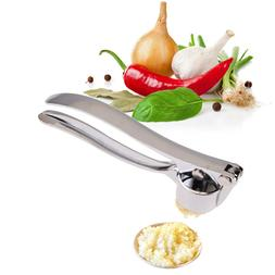 Stainless Steel Home Kitchen Mincer Tool Garlic Press Crushe