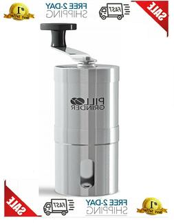 stainless steel tablet and vitamin crusher grind