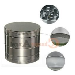 Tobacco Herb Grinder Spice Herbal 4 Piece Metal Chromium All