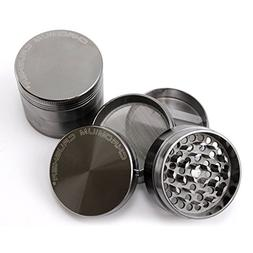 Chromium Crusher 2.2 Inch 4 Piece Tobacco Herb Grinder - Gun