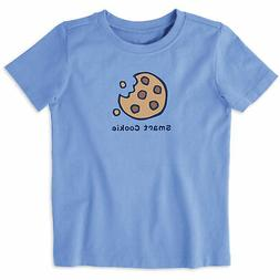 Life is Good. toddlers crusher tee SMART COOKIE, Carolina Bl