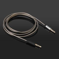 Silver Plated Audio Cable For Skullcandy Crusher Aviator Ove