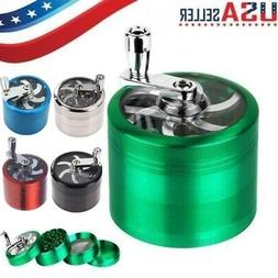 USA Tobacco Herb Spice Grinder 4 Piece Herbal Alloy Smoke Me