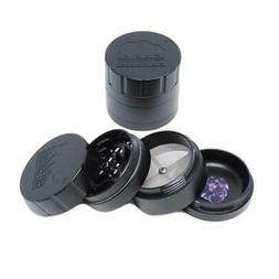"Cali Crusher V 2.0 - 4 Piece BLACK Herb Grinder 2.35"" AUTHEN"