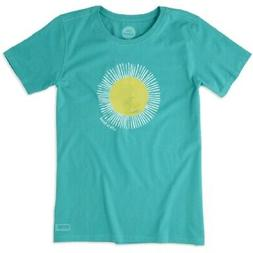 WOMEN'S LIFE IS GOOD SUN PAINTED CLASSIC FIT BRIGHT TEAL CRU