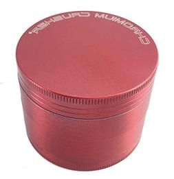 "Chromium Crusher 2"" Red 4 Piece Tobacco Spice Herb Grinder"